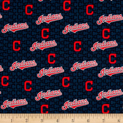MLB Cleveland Indians Cotton Broadcloth