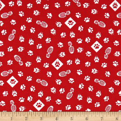 Riley Blake Cub Scouts Paws Red Fabric