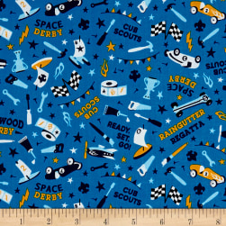 Riley Blake Cubs Scouts Derby Blue Fabric