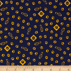 Riley Blake Cub Scouts Paws Navy Fabric