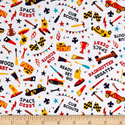 Riley Blake Cub Scouts Darby White Fabric