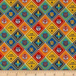 Riley Blake Cub Scouts Badges Multi Fabric