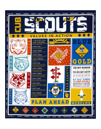 Riley Blake Cub Scouts Panel Navy Fabric