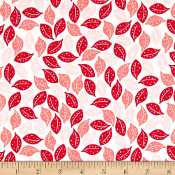 Riley Blake Sweet Prairie Leaves Pink Fabric