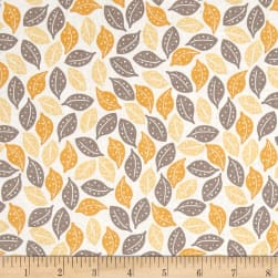 Riley Blake Sweet Prairie Leaves Yellow Fabric