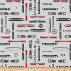 Riley Blake Dodge Lights Gray Fabric