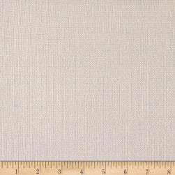 100% European Linen Basketweave Upholstery White
