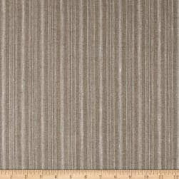 100% European Linen Striped Natural Fabric
