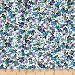 Timeless Treasures Metallic Enchanted Tossed Flowers Sand Fabric