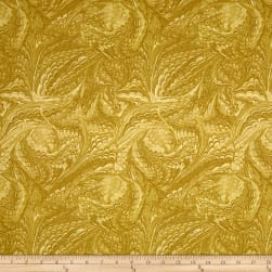 Timeless Treasures Metallic Enchanted Marble Gold Fabric