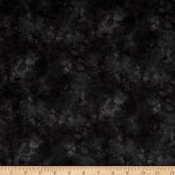 Timeless Treasures Solid-ish Watercolor Texture Black Fabric