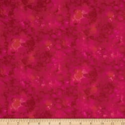 Timeless Treasures Solid-ish Watercolor Texture Magenta Fabric