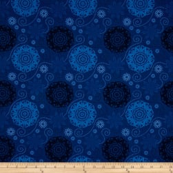 Timeless Treasures Bohemian Blues Quilterly Medallions Medium