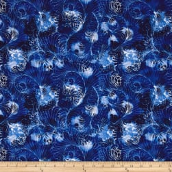 Timeless Treasures Bohemian Blues Flower Swirl Small Mystic