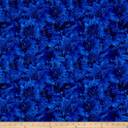 Timeless Treasures Bohemian Blues Daisy Cobalt Fabric