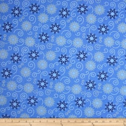 Timeless Treasures Bohemian Blues Small Medallions Azure Fabric