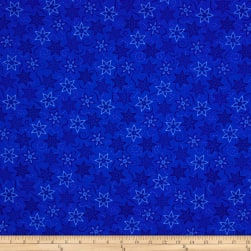 Timeless Treasures Bohemian Blues Stars Blue Fabric