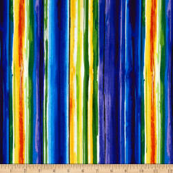 Timeless Treasures Reverie Watercolor Stripe Brite Fabric