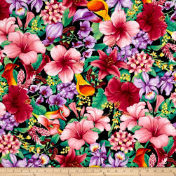 Timeless Treasures Island Breeze Tropical Floral Tropic Fabric
