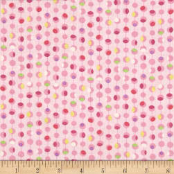 Timeless Treasures Island Breeze Dot Geo Pink Fabric