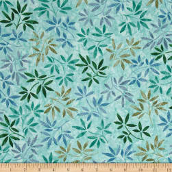 Timeless Treasures Tranquility Wildflowers Sea Fabric