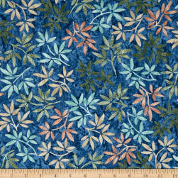Timeless Treasures Tranquility Wildflowers Pacific Fabric