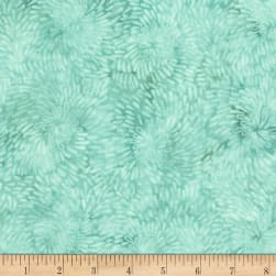 Timeless Treasures Tranquility Raindrop Spiral Mint Fabric