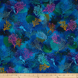 Timeless Treasures Sealife Vacation Coral Deep Fabric