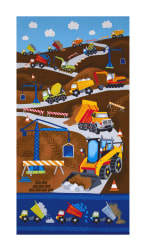 Timeless Treasures Dig It 24'' Construction Panel Multi Fabric