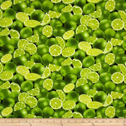 Timeless Treasures Farm Stand Limes Lime Fabric