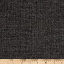 Stripe High Twist Super 110 Suiting Charcoal Fabric