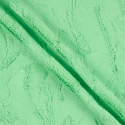 Shannon Minky Luxe Cuddle Luna Honeydew Fabric