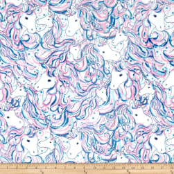 Shannon Studio Minky Cuddle Be A Unicorn Fuchsia Fabric