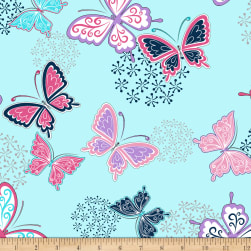 Shannon Minky Cuddle Butterfly Wings Cuddle Navy Fabric