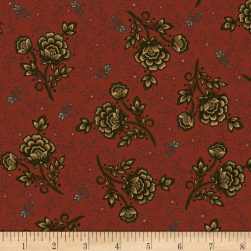 Kim Diehl Helping Hands Wild Rose Red Fabric