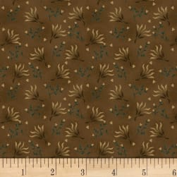 Kim Diehl Helping Hands Seaweed Flower Brown Fabric