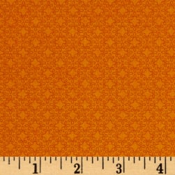 Modern Melody Basic Filigree Geo Orange Fabric