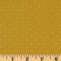 Modern Melody Basic Filigree Geo Marigold Fabric