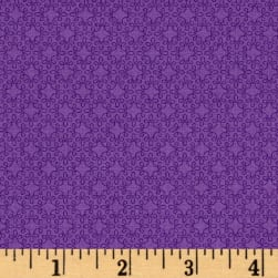 Modern Melody Basic Filigree Geo Purple Fabric