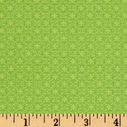 Modern Melody Basic Filigree Geo Spring Green Fabric
