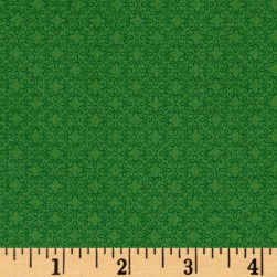 Modern Melody Basic Filigree Geo Grass Green Fabric