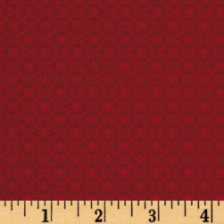 Modern Melody Basic Filigree Geo Crimson Red Fabric