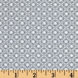 Modern Melody Basic Filigree Geo White/Black Fabric