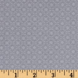 Modern Melody Basic Filigree Geo Silver Grey Fabric