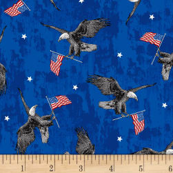 Brave & Free Eagles Royal Fabric