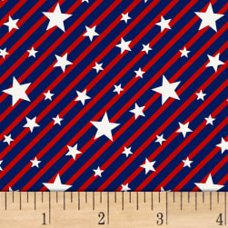 Brave & Free Stars & Stripes Red Fabric