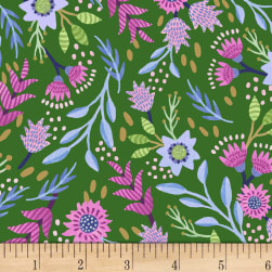 Flourish Flourish Green Fabric