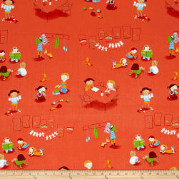 Heather Ross Kinder Kindergarten Red Fabric