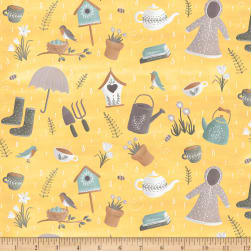 Smitten With Spring Spring Showers Butter Fabric