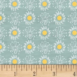 Smitten With Spring Lacey Dot Aqua Fabric